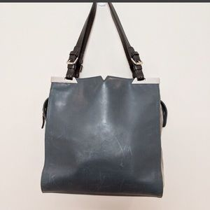 Vince Camuto Genuine Leather & Suede Tote